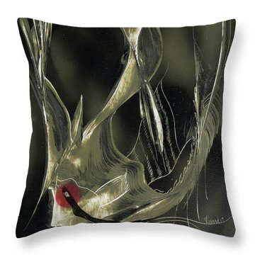 Angel Fish Abstract Throw Pillow