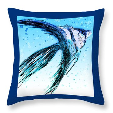 Angel Fish Art Throw Pillow