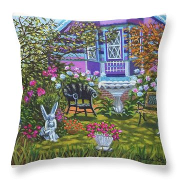 Angel Garden In Ocean Grove Throw Pillow