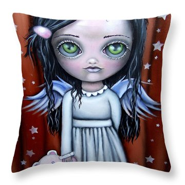 Angel Girl Throw Pillow
