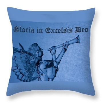 Throw Pillow featuring the photograph Angel Gloria In Excelsis Deo by Denise Beverly