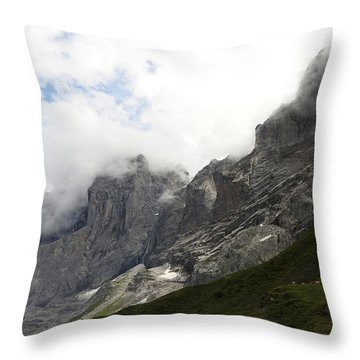 Angel Horns In The Clouds Throw Pillow by Ernst Dittmar
