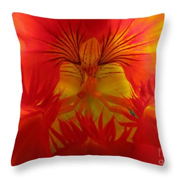 Angel In A Nasturtium Throw Pillow