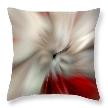 Angel In Battle Throw Pillow by Lauren Radke