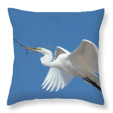 Throw Pillow featuring the photograph Angel In Flight by Fraida Gutovich