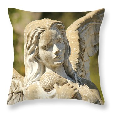 Angel In Mississippi Throw Pillow by Lynn Jordan