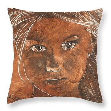Angel In Process Head Detail Throw Pillow