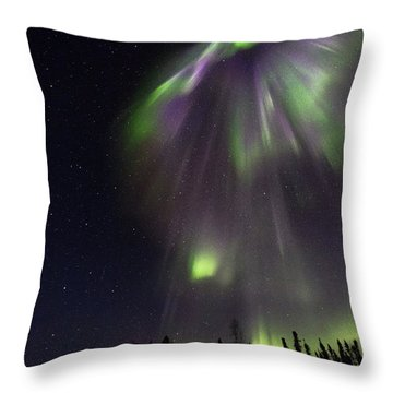 Angel In The Night Throw Pillow