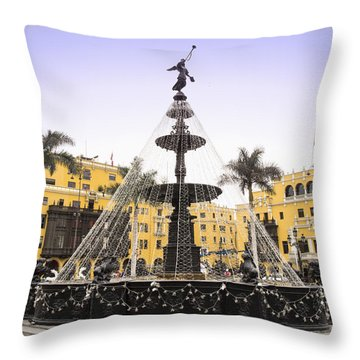 Angel In The Square Throw Pillow