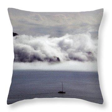 Angel Island Fog Throw Pillow
