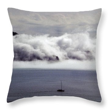 Angel Island Fog Throw Pillow