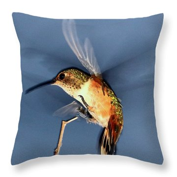 Angel Morphing Into A Hummingbird Throw Pillow