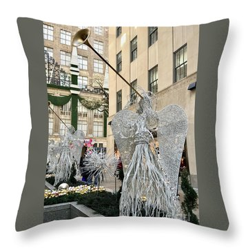 Angel New York City Throw Pillow