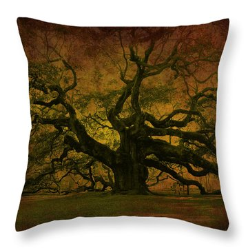 Angel Oak 3 Charleston Throw Pillow