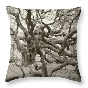 Angel Oak Antiqued Throw Pillow