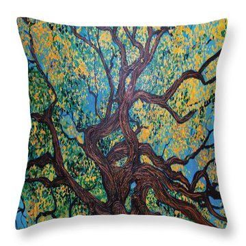 Angel Oak Young Throw Pillow