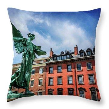 Angel Of Boston  Throw Pillow