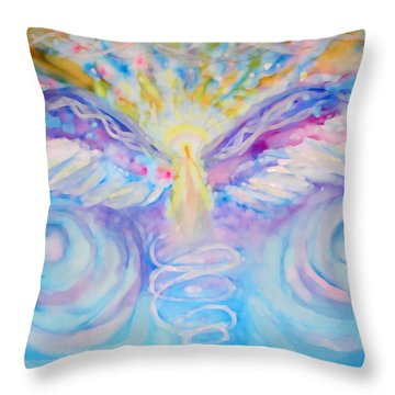 Angel Of Change Throw Pillow