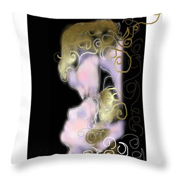 Angel Of Death Kiss Throw Pillow
