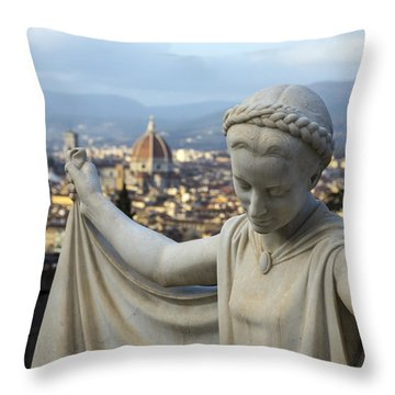 Angel Of Firenze Throw Pillow