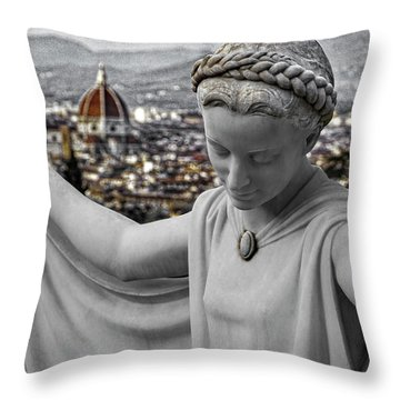 Angel Of Florence Throw Pillow by Sonny Marcyan