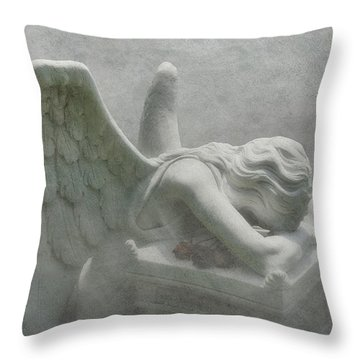 Angel Of Grief Throw Pillow