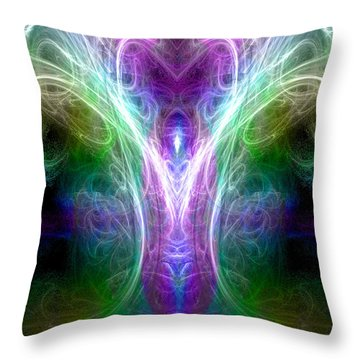 Angel Of Healing Throw Pillow