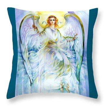 Angel Of Love Throw Pillow by Karen Showell