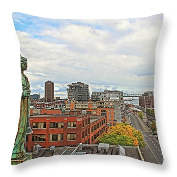 Angel Of Old Montreal Throw Pillow by Alice Gipson