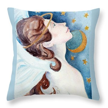 Angel Of Receiving Throw Pillow