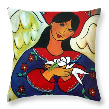 Angel Of Renewal Throw Pillow
