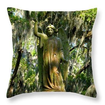 Angel Of Savanna Throw Pillow by David Lee Thompson