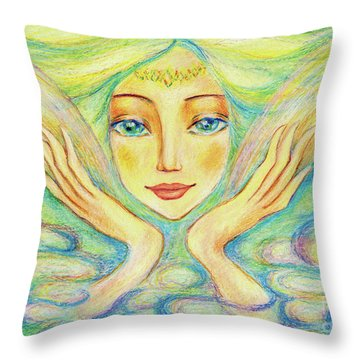 Angel Of Serenity Throw Pillow