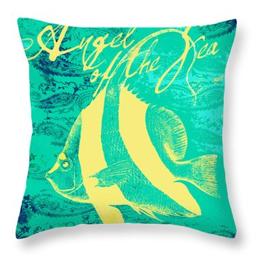 Angel Of The Sea Throw Pillow
