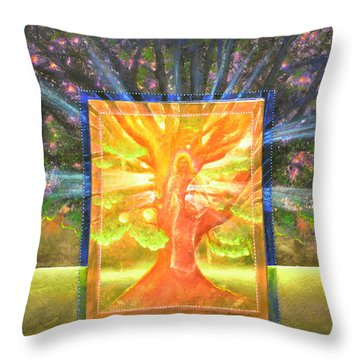 Angel Of The Trees Throw Pillow