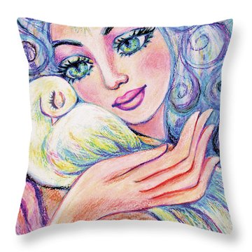 Angel Of Tranquility Throw Pillow
