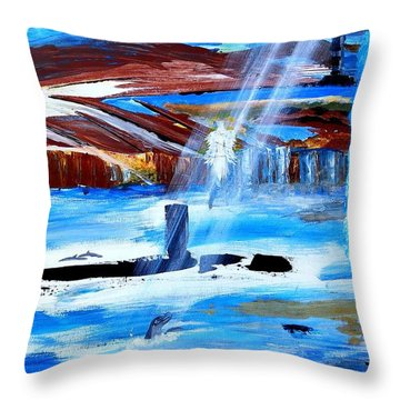 Angel Over Water Throw Pillow