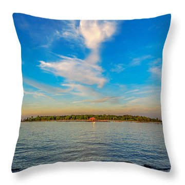 Angel Overcast Throw Pillow by Glenn Feron