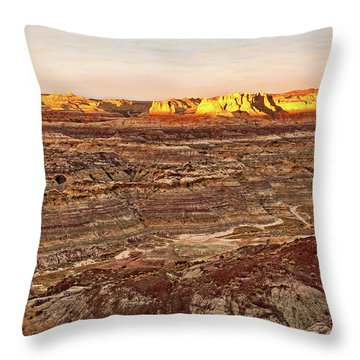 Throw Pillow featuring the photograph Angel Peak Badlands - New Mexico - Landscape by Jason Politte