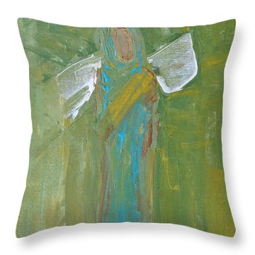 Angel Praise And Worship Throw Pillow