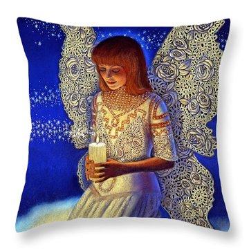 Angel Prayer Throw Pillow