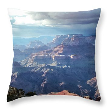 Angel S Gate And Wotan S Throne Grand Canyon National Park Throw Pillow