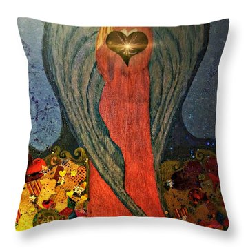 Angel Sails Waves Of Love Throw Pillow