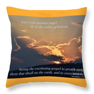 Angel Sky Throw Pillow