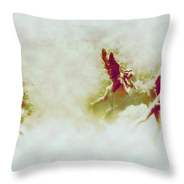 Angel Song Throw Pillow by Bill Cannon