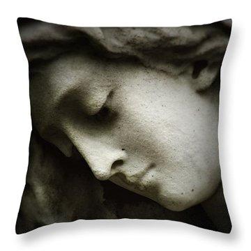 Angel Sorrow Throw Pillow