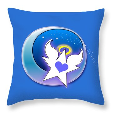 Angel Star Icon Throw Pillow