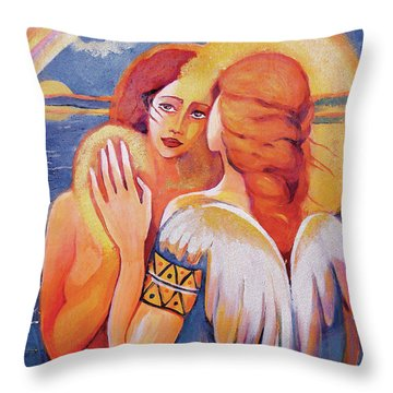 Angel Touch Throw Pillow