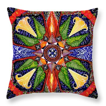 Throw Pillow featuring the painting Angel Trumpet by Kym Nicolas