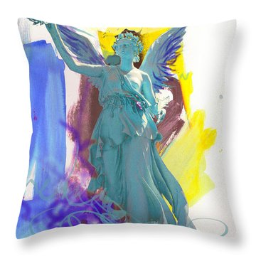 Angel, Victory Is Now Throw Pillow